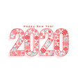 creative 2020 happy new year christmas style vector image