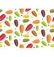 cute autumn leaves pattern vector image vector image