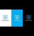 dental care or plus logo design line style vector image