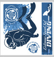 diving club and labels set vector image vector image