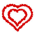 double line heart icon simple style vector image vector image