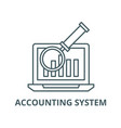 electronic accounting system line icon vector image vector image