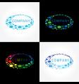 ellipse logo concept vector image