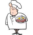 english chef cartoon vector image