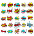 exclamation texting comic signs on speech bubbles vector image