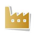 factory sign golden gradient vector image vector image