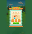 farm fruits level select screen - mobile game vector image vector image