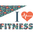 fitness icons background i love