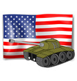 Flag and tank vector image