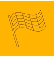 Flag line icon vector image vector image
