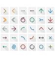 Flat arrow icons vector image vector image