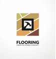 flooring logo design concept vector image vector image