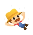 funny cartoon farmer vector image vector image