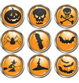 Halloween icon buttons vector image vector image