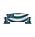 happy independence day ribbon with american flag vector image vector image