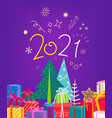 happy new 2021 year banner vector image