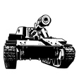 heavy tank vector image vector image