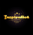 inspiration star golden color word text logo icon vector image