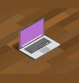 isometric laptop notebook 3d style on top of vector image