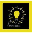 Light bulb idea with text vector image