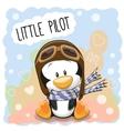 Little Penguin Pilot vector image vector image