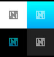 logo n linear logo of the letter n vector image vector image