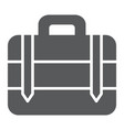 luggage glyph icon bag and baggage suitcase sign vector image vector image