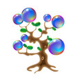 magic tree fantasy object for witchcraft design vector image