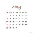 may 2017 vector image vector image