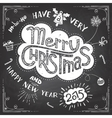 Merry Christmas doodle chalkboard vector image vector image