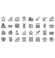 Producer icons set outline style