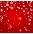 Red Christmas background EPS10 vector image vector image