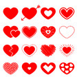 red heart big icon set happy valentines day sign vector image vector image