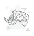 rhino geometric emblem rhino vector image vector image