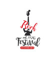 rock festival logo est 1976 design element with vector image vector image