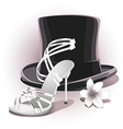 romantic white wedding shoe vector image
