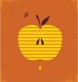 Rosh hashana greetng card with abstract apple vector image vector image