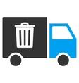 Rubbish Transport Van Flat Icon vector image vector image