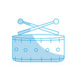 silhouette snare drum musical instrument to play vector image vector image