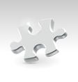 Silver jigsaw puzzle piece