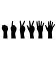 six hands vector image