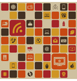 Social media retro background vector image