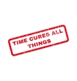 time cures all things rubber stamp vector image vector image