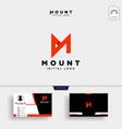 unique letter m modern creative elegant luxurious vector image