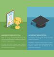 university academic education vector image vector image