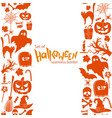 vertical seamless borders of halloween icons vector image vector image
