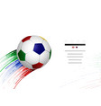 white and blue red green soccer football with vector image