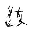 woman bungae fitness silhouette logo vector image