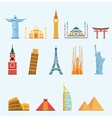 World famous travel landmarks vector image