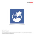 world globe icon - blue photo frame vector image vector image